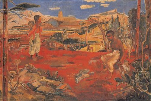 크기변환_경주의 산곡에서In the Gyeongju mountain range, 이인성LEE In-Sung, 1935, Oil on canvas, 129x191cm, 리움 소장.jpg